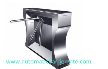 الصين Single / Dual Direction Remote Control Stainless Tripod Turnstile For Supermarket مصنع