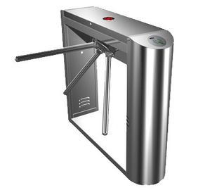 الصين 0.2s Dual Direction Barcode Stainless Steel Tripod Turnstile Gate for Museum, Library مصنع