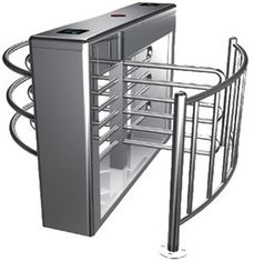 0.2s RS485 Stainless Steel Tube Automatic Rotation Full Height Turnstile For Subway
