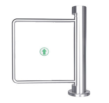 Indoor 90 Angle Single Directional Stainless Manual Swing Gate Barrier for Exhibition المزود