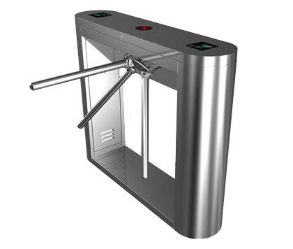 Magnetic Card Stainless Steel Tripod Turnstile Gate for Supermarket المزود