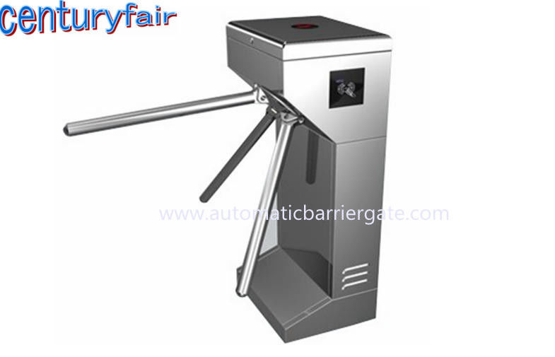ID Card LED Double Direction Prompt Vertical Tripod Turnstile Gate for Supermarket المزود