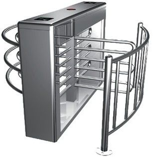 0.2s RS485 Stainless Steel Tube Automatic Rotation Full Height Turnstile For Subway المزود